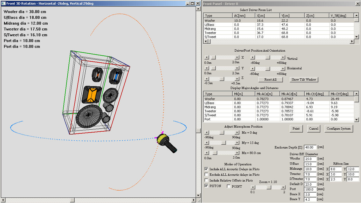 Bodzio Software Two Way Active Crossover With Linear Phase Response Non Coherence Distortion Screen One Of The Screens